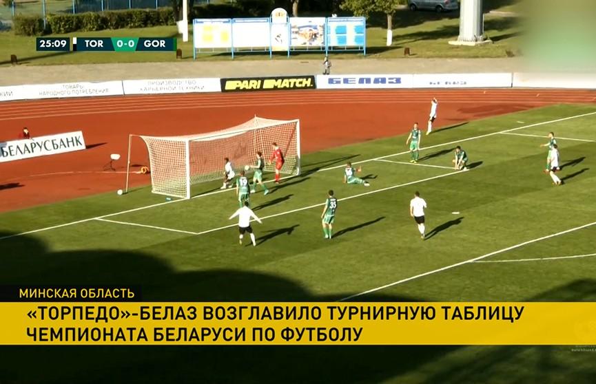 Чемпионат Беларуси по футболу: «Торпедо»-БелАЗ обыграло «Городею» в первом поединке 9-го тура