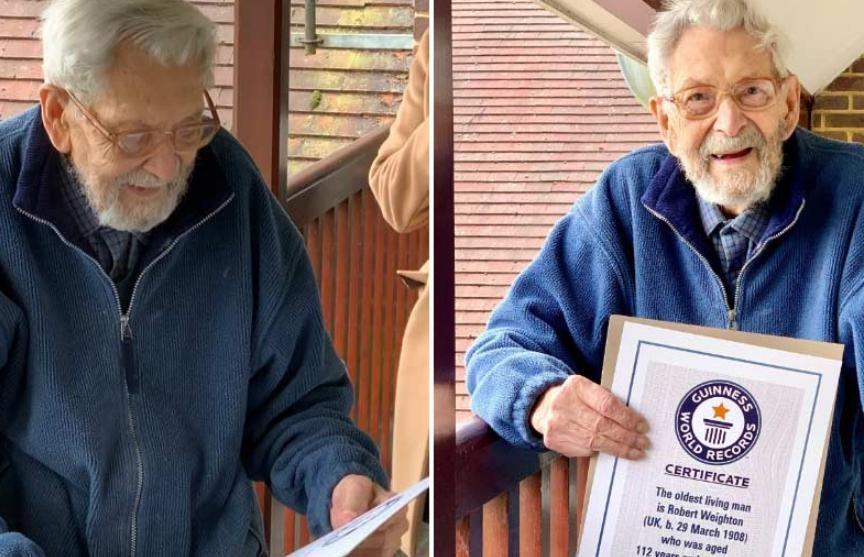 112-летнего британца внесли в Книгу рекордов Гиннесса как старейшего мужчину на Земле