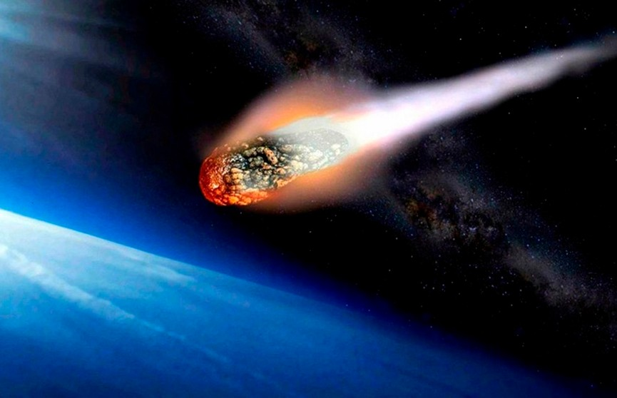 Падение метеорита в России попало на видео