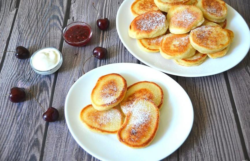 Вкусные оладушки на кефире к завтраку