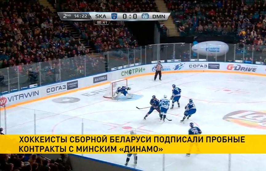 Хоккеисты сборной Беларуси подписали пробные контракты с минским «Динамо»