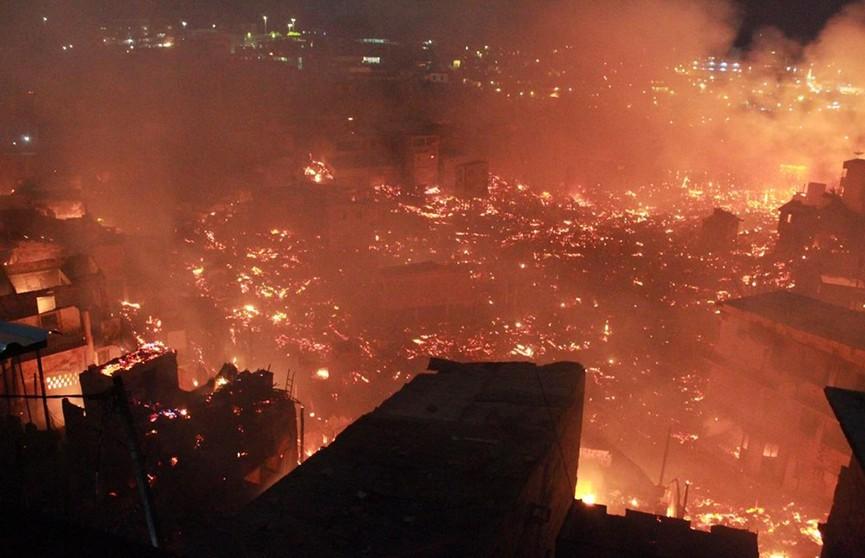 Крупный пожар произошёл в Бразилии