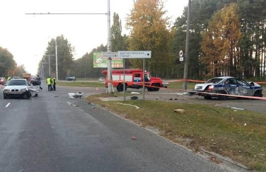 Автомобиль ГАИ преследовал нарушителя и попал в аварию в Гомеле
