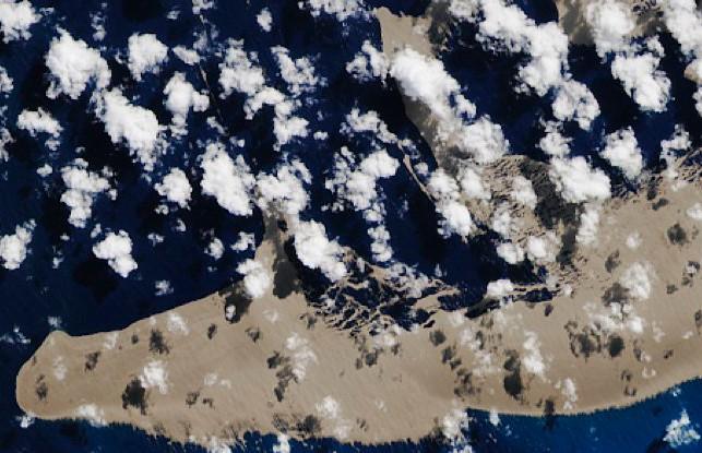 Cтало известно, откуда взялся огромный кусок пемзы в Тихом океане