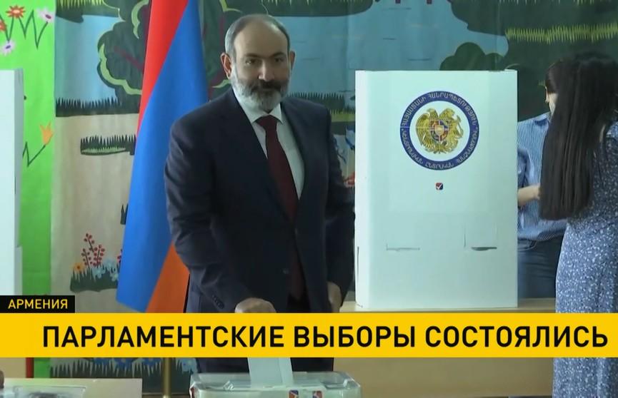 Партия Пашиняна набрала больше всего голосов на парламентских выборах в Армении