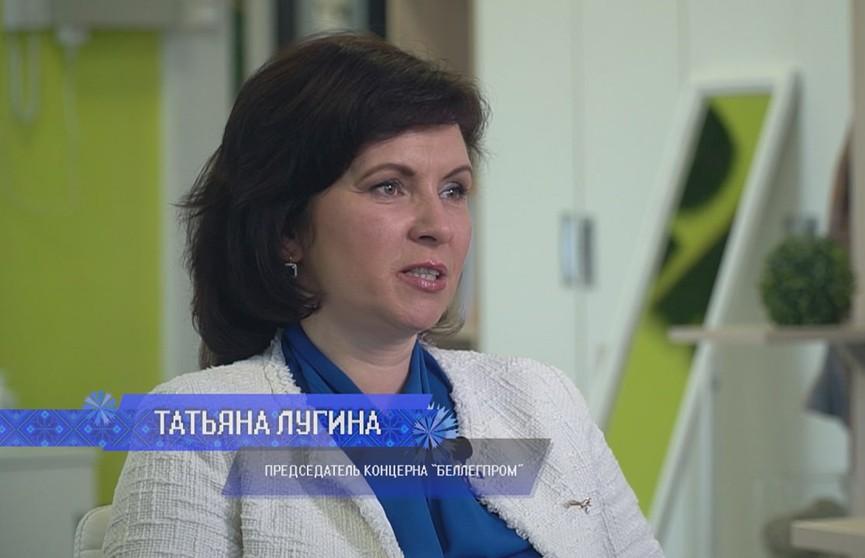 Глава «Беллегпрома» Татьяна Лугина. Проект «Белорусская SUPER-женщина». Смотрите на ОНТ