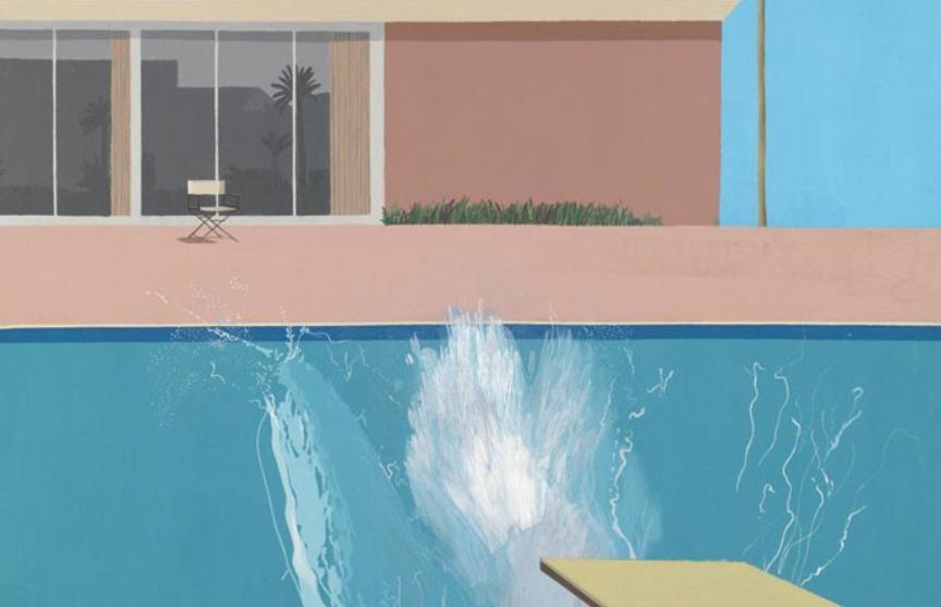 Картину английского художника Дэвида Хокни «Всплеск» продали на аукционе за $30 млн