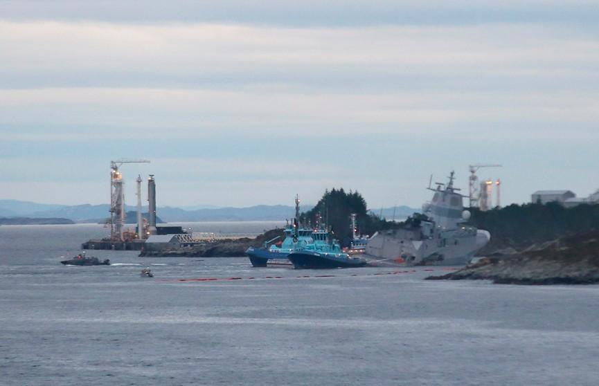 Фрегат и танкер столкнулись у берегов Норвегии