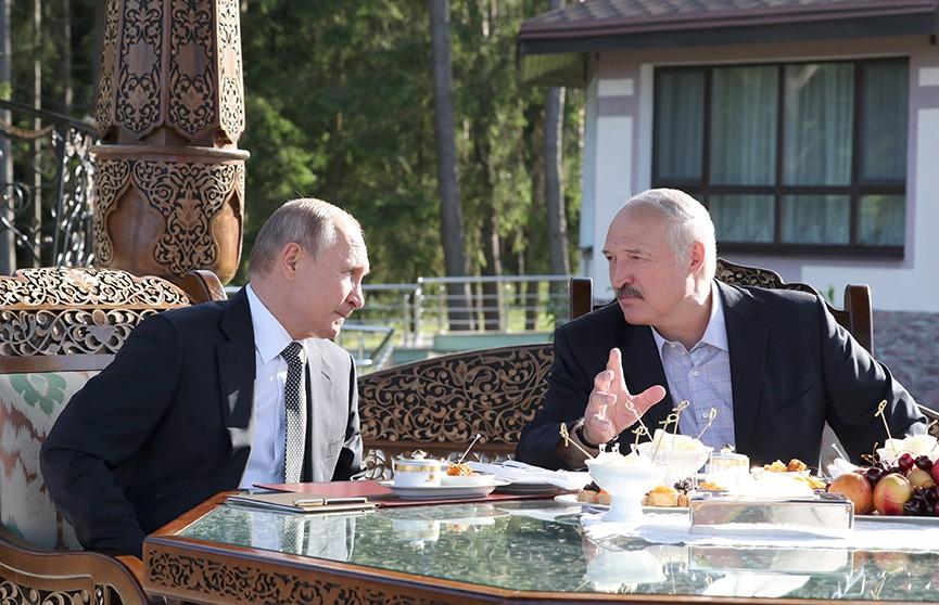 Александр Лукашенко и Владимир Путин неформально встретились в резиденции «Заславль»