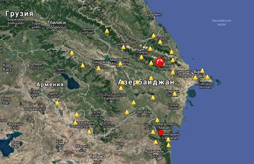 Два сильных землетрясения зафиксированы в Азербайджане