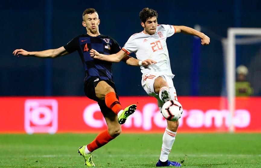 Сборная Хорватии обыграла команду Испании в футбольной Лиге наций