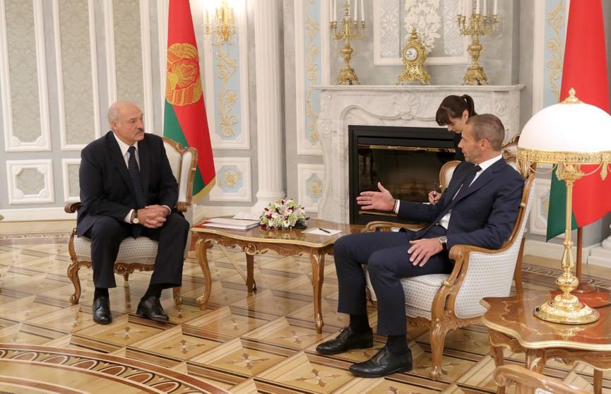 Беларусь готова принять соревнования любого уровня, в том числе Суперкубок УЕФА – Лукашенко на встрече с Александером Чеферином