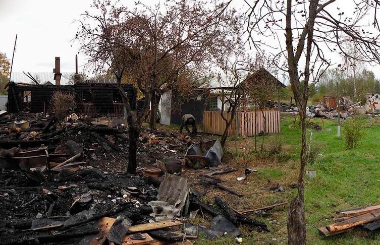 Фрагмент тела человека нашли в сгоревшей хозпостройке в Пуховичском районе