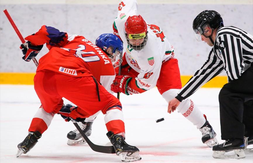 Юниорская сборная Беларуси по хоккею обыграла команду Чехии в стартовом матче чемпионата мира