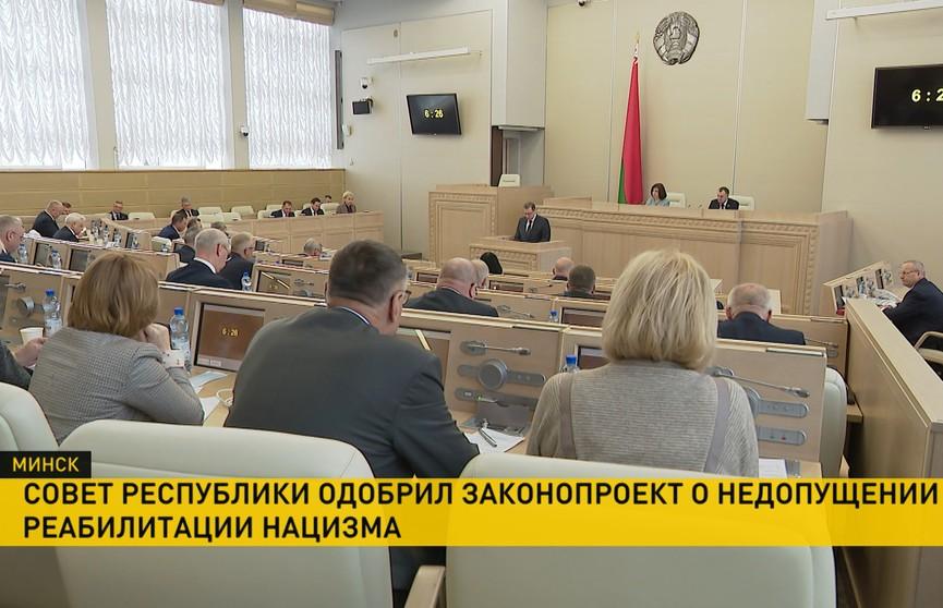 Закон «О недопущении реабилитации нацизма» одобрили в Совете Республики