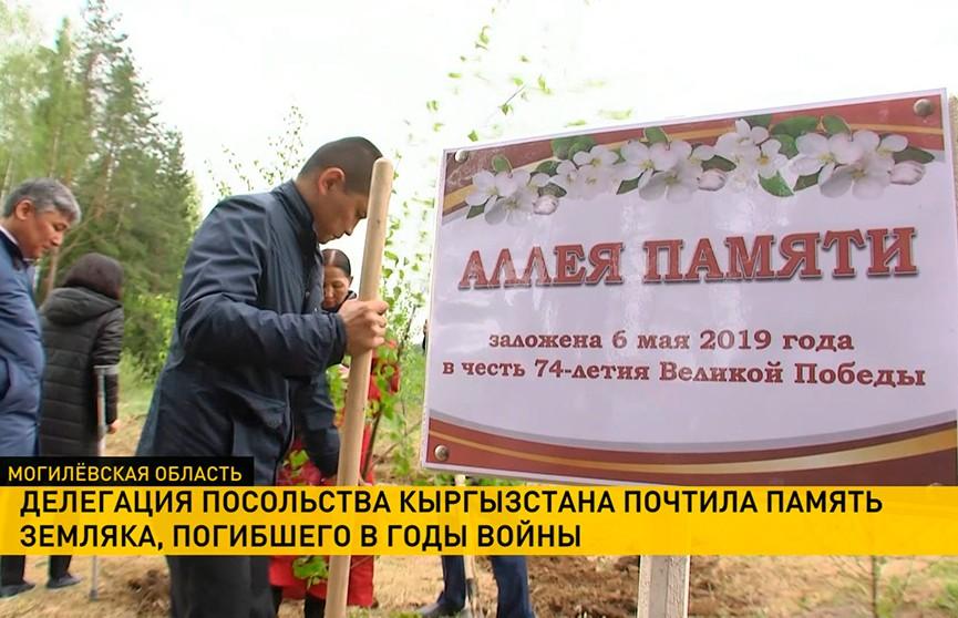 Делегация посольства Кыргызстана приехала в Дрибинский район почтить память своего земляка