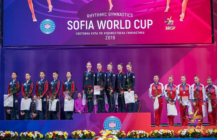 Золото Кубка мира по художественной гимнастике завоевали белоруски в Софии