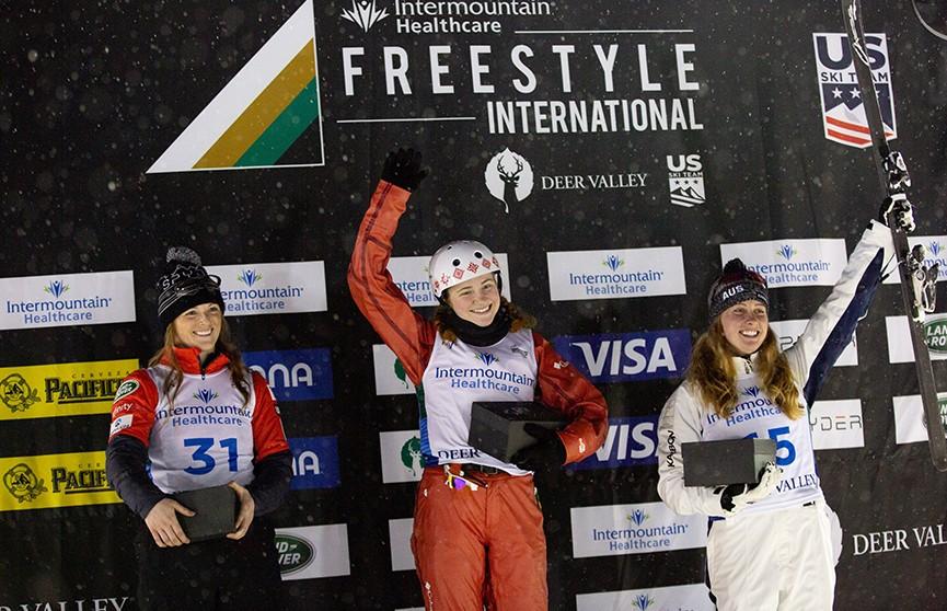 Белоруска Александра Романовская завоевала золото этапа Кубка мира по фристайлу