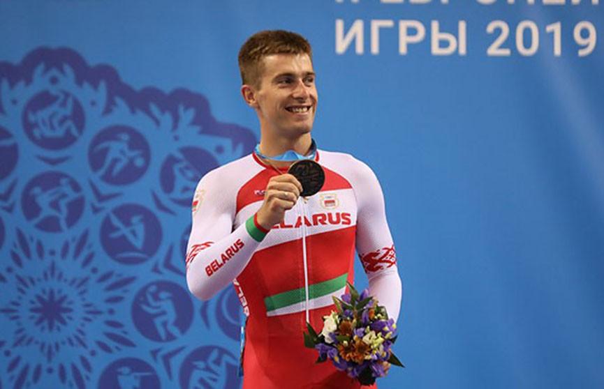 Белорус Евгений Королёк стал третьим в скретче на велотреке II Европейских игр