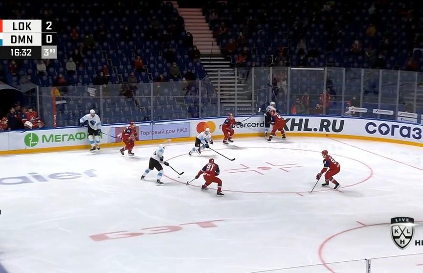 Хоккеисты минского «Динамо» проиграли ярославскому «Локомотиву» в КХЛ