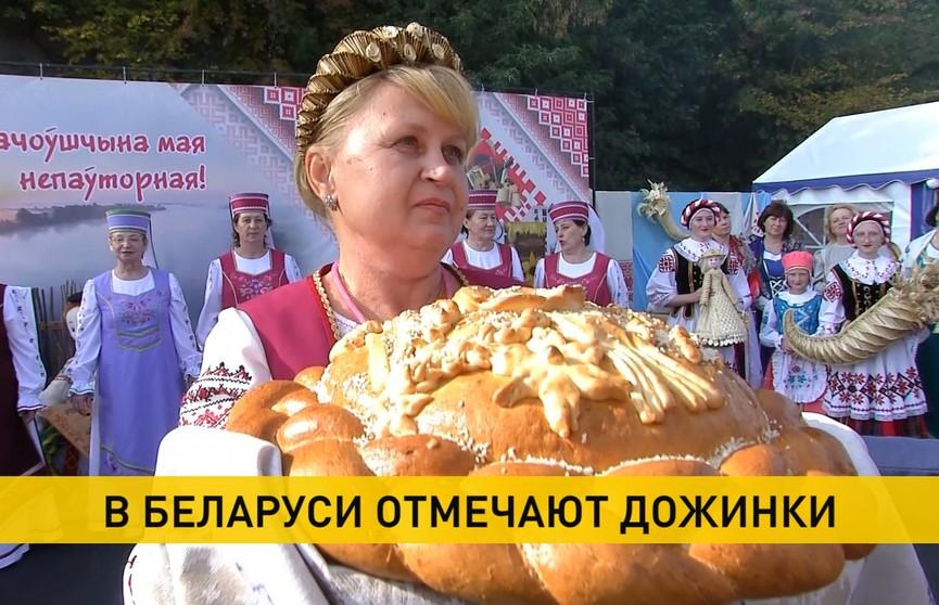 Праздник урожая «Дожинки» прошел в трех областях Беларуси: убрано больше 8 млн т зерна