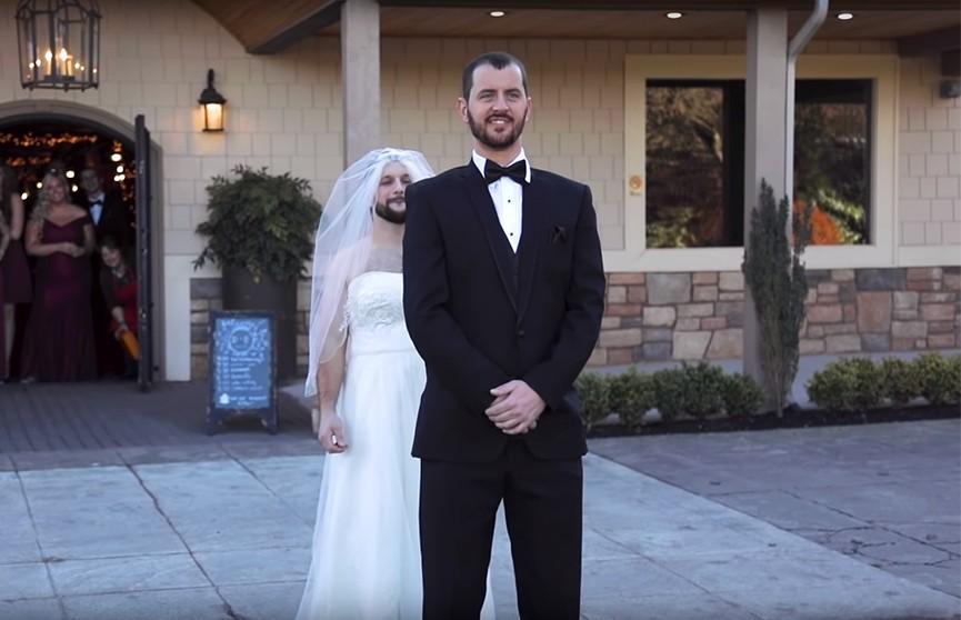 Ждал невесту, а вышел друг. Прикол на свадьбе в США
