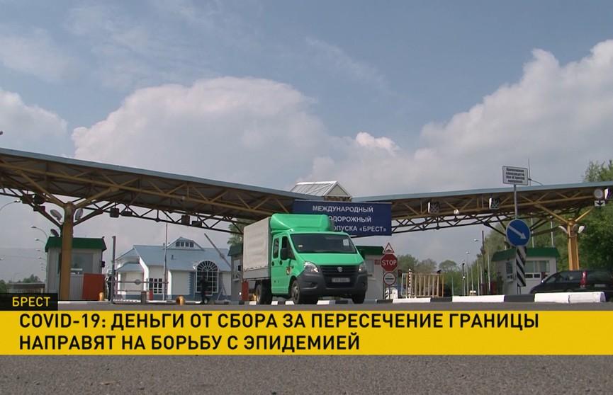 Вырученные деньги за пересечение границы в Брестской области отправят на борьбу с COVID-19