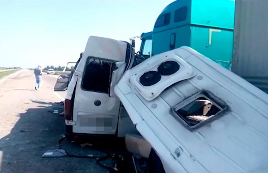 Задержан водитель грузовика, в который врезался автобус с белорусскими туристами на трассе Киев-Одесса