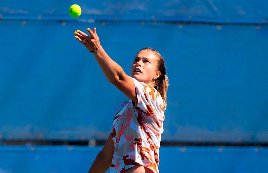 Арина Соболенко вышла в 1/4 финала на турнире в США