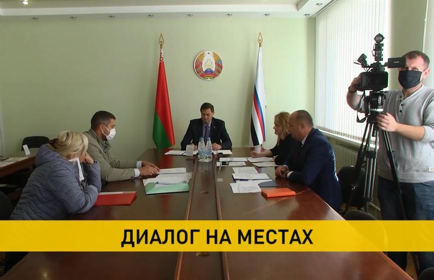 Максим Рыженков принимал граждан в Сморгони: темы – от частных до тех, что касаются каждого белоруса