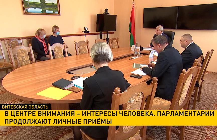 Владимир Андрейченко провел прием граждан в Докшицах