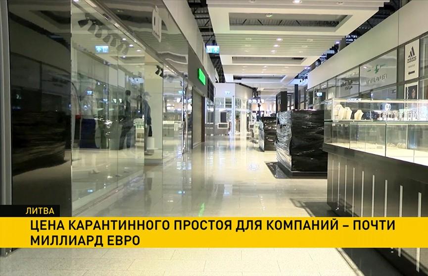 Цену карантинного простоя в Литве в 2020 году оценили в почти миллиард евро