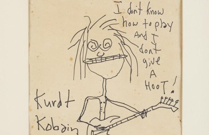 «Я не умею играть, и мне наплевать!» Автопортрет Курта Кобейна продали на аукционе за $281 тыс.