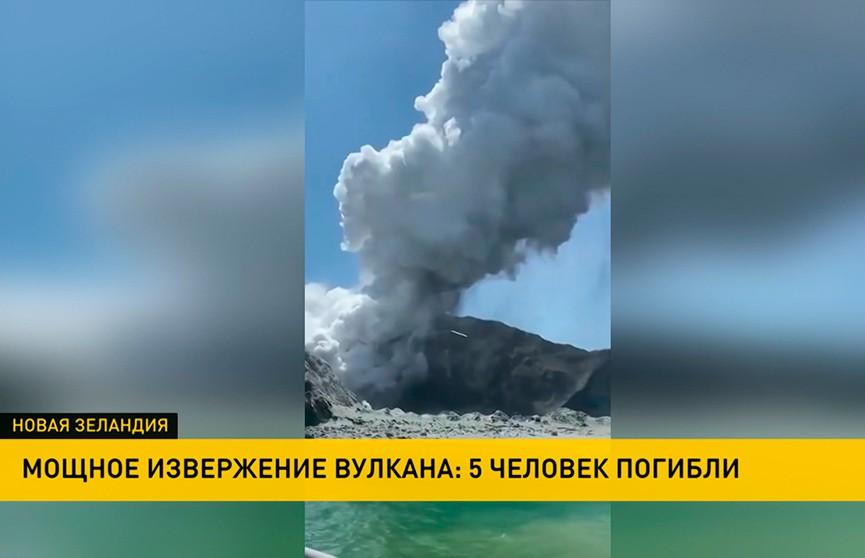 Число жертв извержения вулкана в Новой Зеландии увеличилось до пяти человек