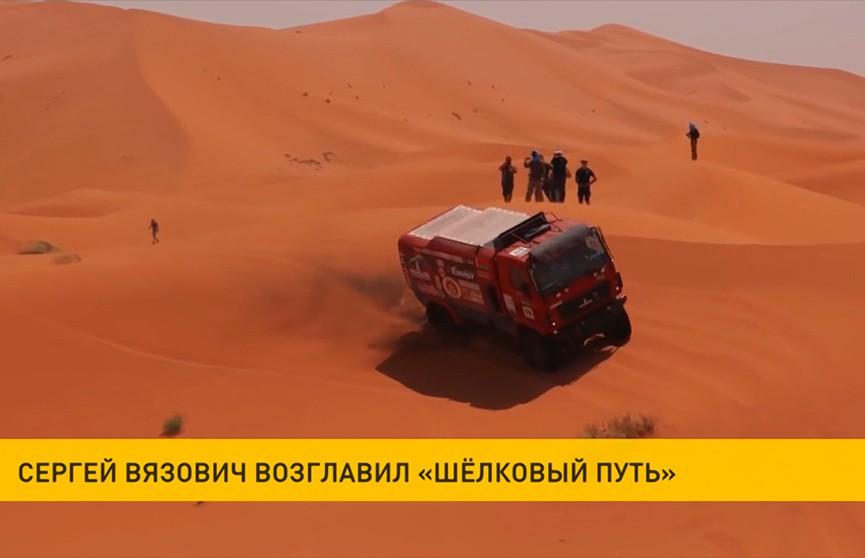 Экипаж Сергея Вязовича выиграл второй подряд этап ралли-рейда «Шелковый путь»