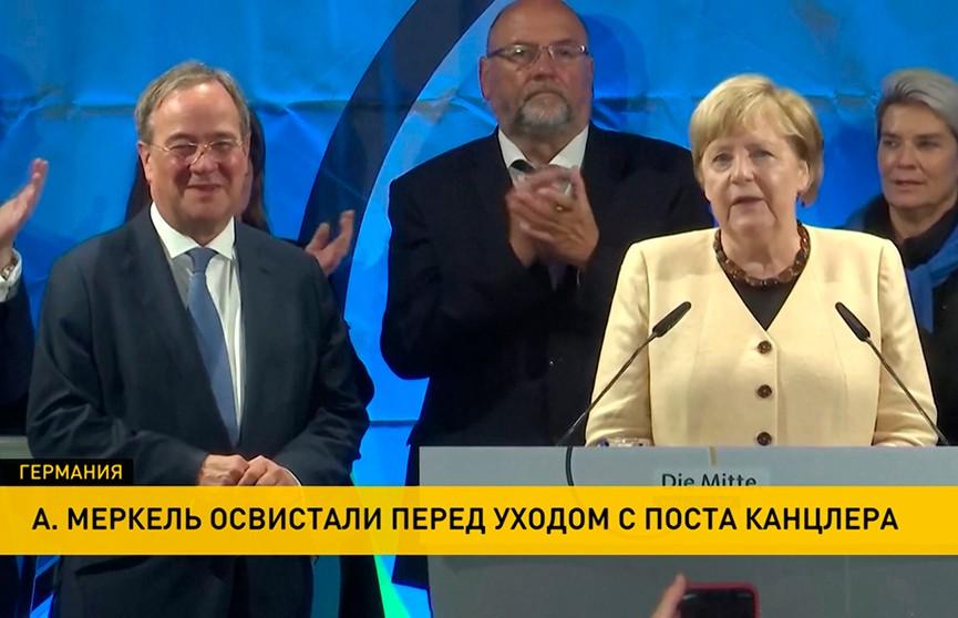 Ангелу Меркель освистали на предвыборном митинге