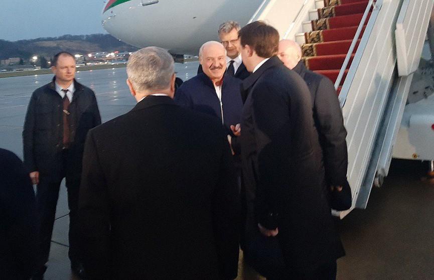 Александр Лукашенко прибыл в Сочи с рабочим визитом
