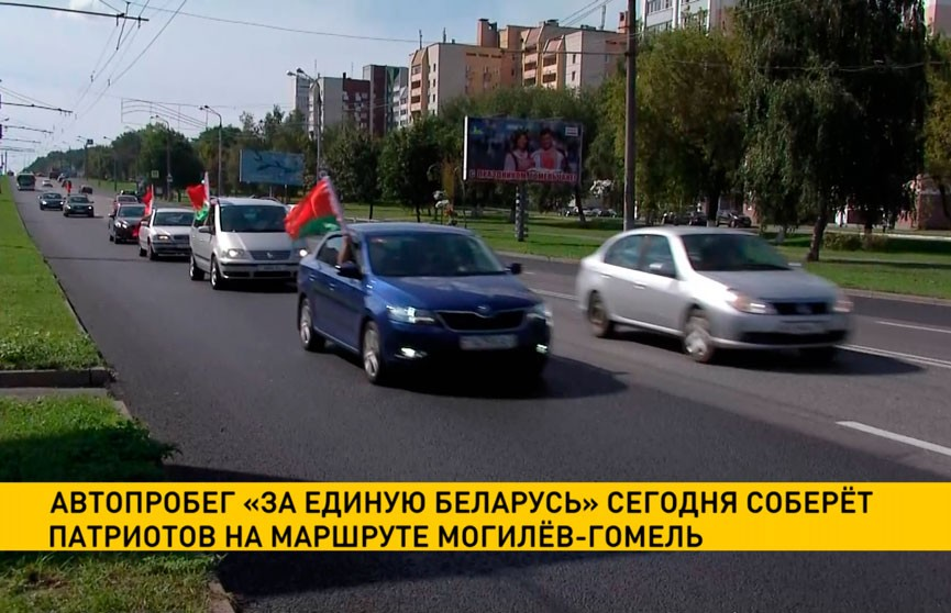 Автопробег «За единую Беларусь» соберет патриотов на маршруте Могилев-Гомель