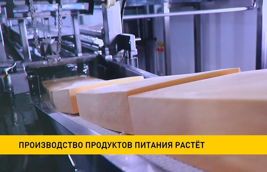 Производство продуктов питания в Беларуси выросло на 3,6%