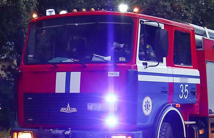 Внедорожник сгорел на АЗС в Толочинском районе