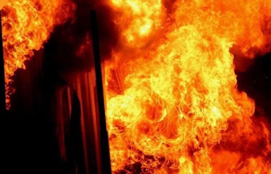 Баня загорелась в Брестской области