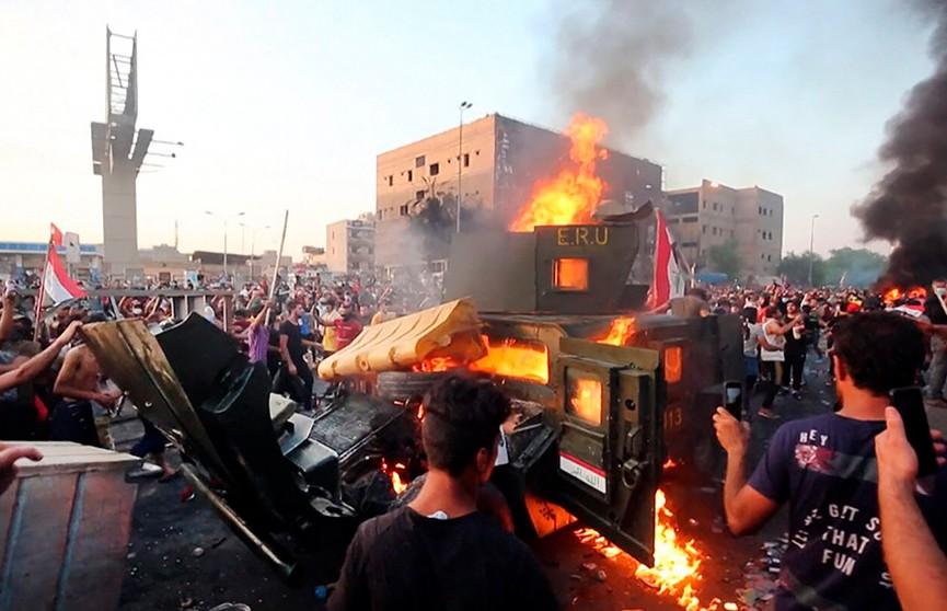По меньшей мере 120 человек пострадали в столкновениях на юге Ирака