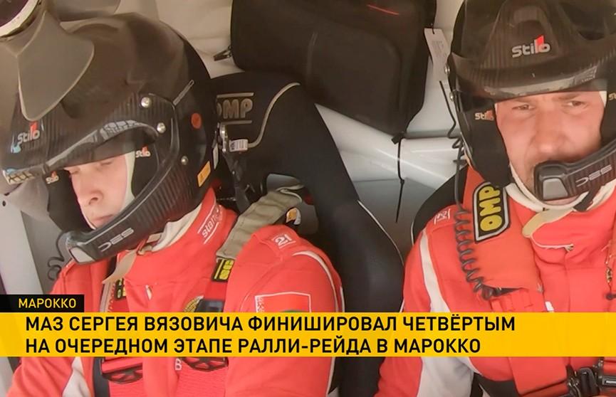 МАЗ Вязовича не попал в тройку лидеров из-за поломки на четвертом этапе ралли-рейда в Марокко