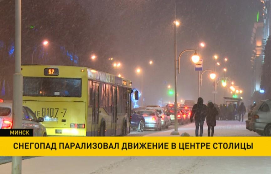 Минск застрял в десятибалльных пробках