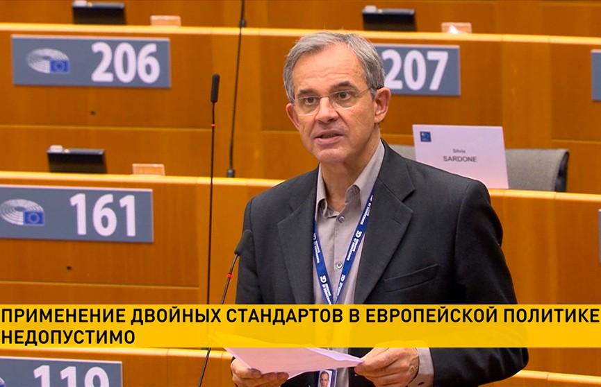 Депутат Европарламента обвинил коллег в применении двойных стандартов по отношению к Беларуси