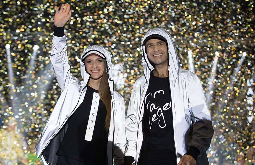 Что носят чемпионы? Фото с показа спортивной коллекции Дарьи Домрачевой