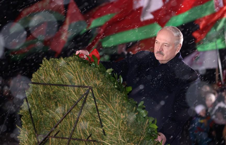 Александр Лукашенко посетил республиканский митинг-реквием «Лампада памяти»