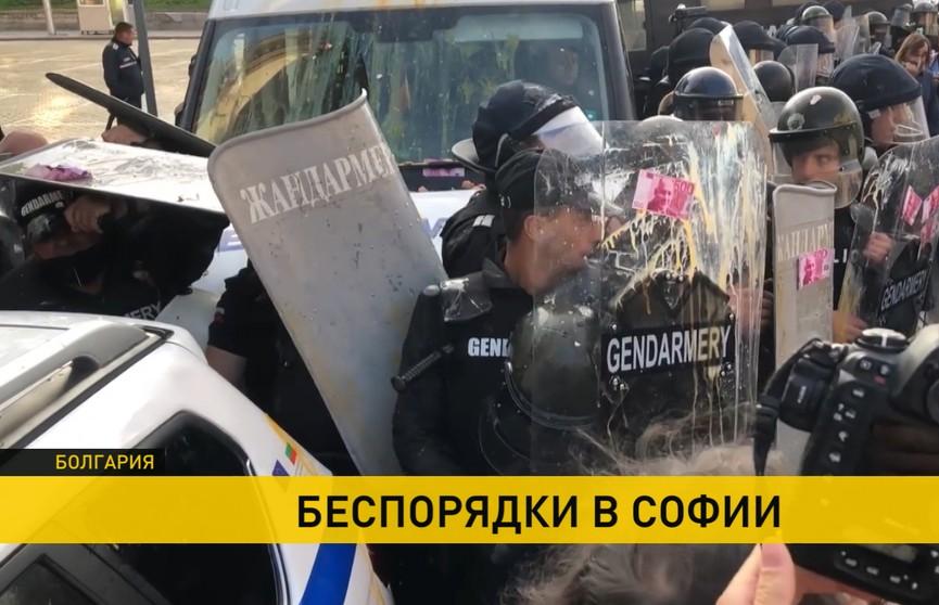 Беспорядки в Софии: полиция Болгарии усмиряет демонстрантов слезоточивым газом