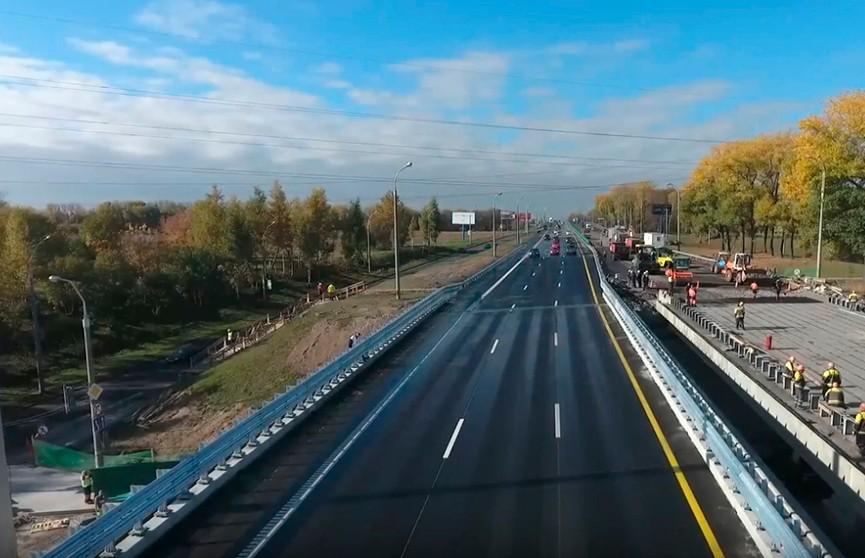 Движение транспорта по внутренней стороне МКАД в районе Лошицы откроется 3 ноября