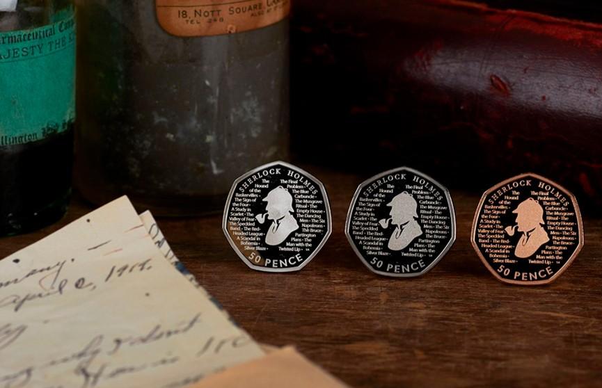 Монету с изображением Шерлока Холмса выпустили в Великобритании